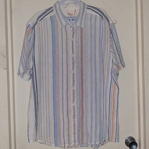 Tommy Bahama Relax Linen Button Up Men's XL